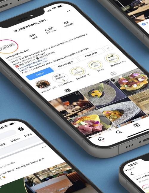 la Biglietteria - Comunicazione social con creatività, shooting fotografici e copy (dal 2018)